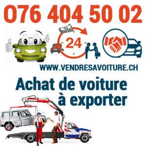 Vendre sa voiture pour l'exportation en Suisse romande