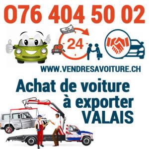 Vendre sa voiture pour l'exportation à Valais