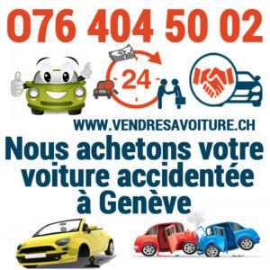 Vendre sa voiture accidentée à un professionnel à Genève