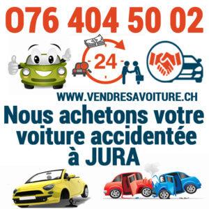 Vendre sa voiture accidentée au Jura pour l'exportation