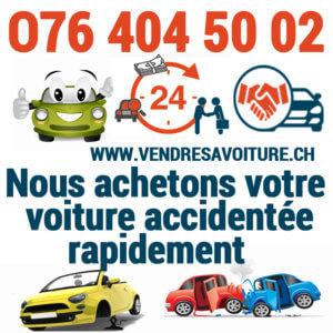 Vendre sa voiture accidentée en Suisse romande pour l'exportation