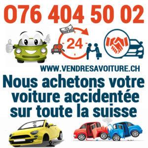 Vendre sa voiture accidentée en Suisse rapidement pour l'exportation