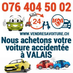 Vendre sa voiture accidentée à un professionnel à Valais
