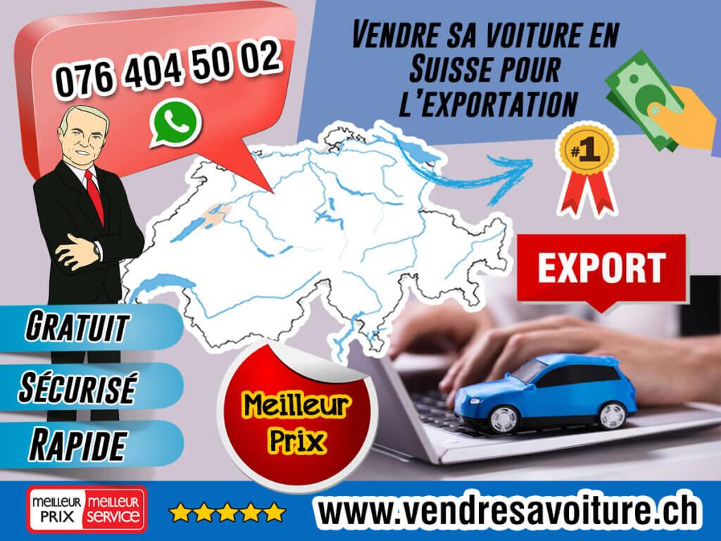 Vendre sa voiture en Suisse pour l'exportation