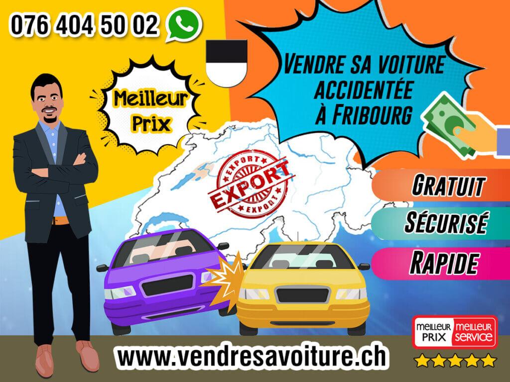 Vendre sa voiture accidentée à Fribourg