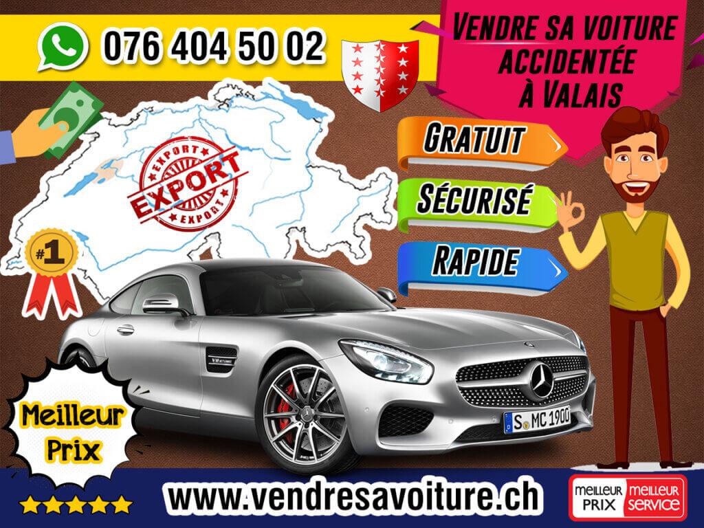 Vendre sa voiture accidentée à Valais
