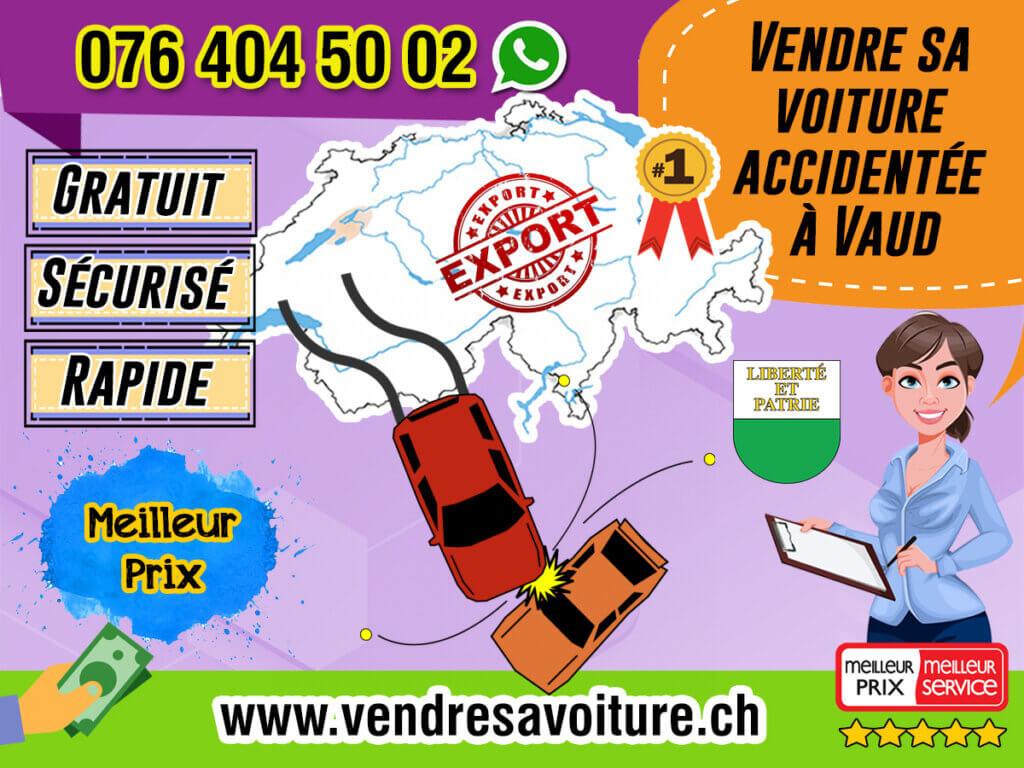 Vendre sa voiture accidentée à Vaud