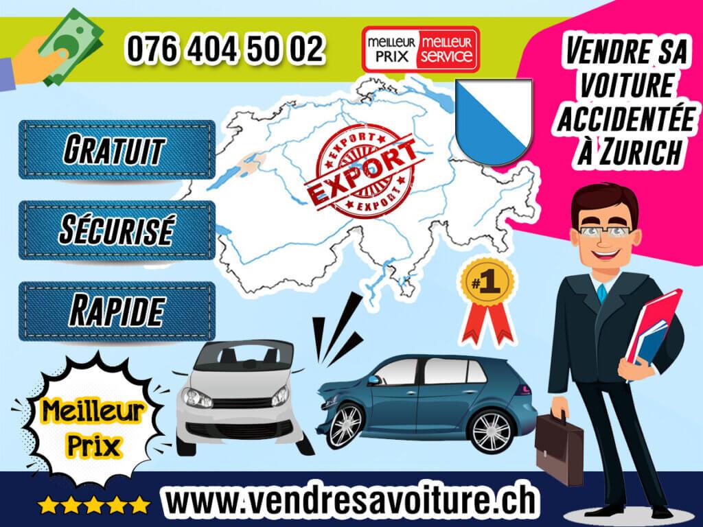 Vendre sa voiture accidentée à Zurich