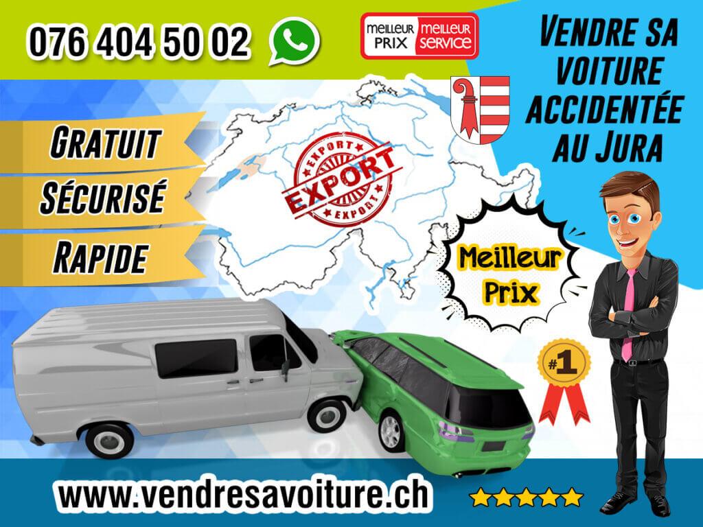 Vendre sa voiture accidentée au Jura