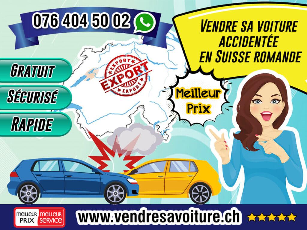 Vendre sa voiture accidentée en Suisse romande