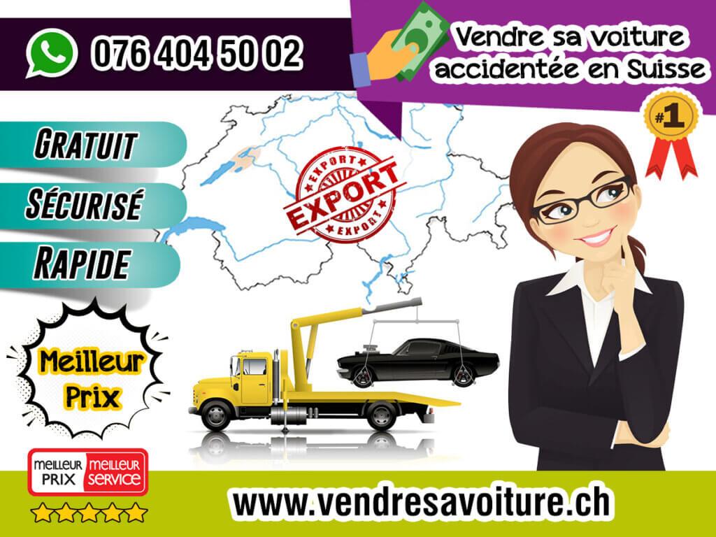 Vendre sa voiture accidentée en Suisse