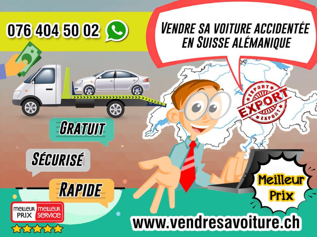 Vendre sa voiture accidentée en Suisse alémanique