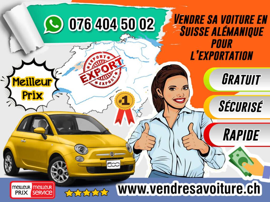Vendre sa voiture en Suisse alémanique pour l'exportation