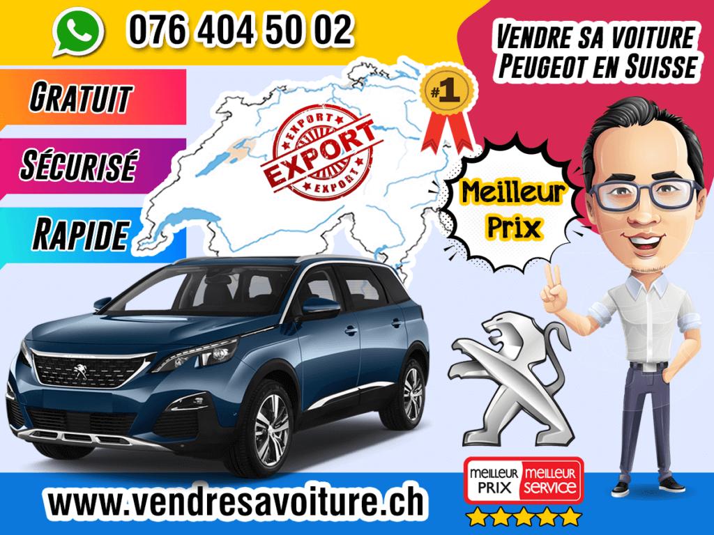 Vendre sa voiture Peugeot en Suisse
